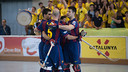 Barça celebrate one of five goals in Mataró / ALEIX TELLO - FCB