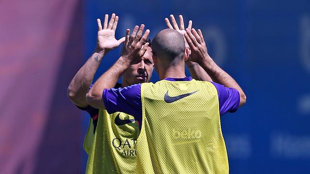 FC Barcelona trained Saturday morning at the Ciutat Esportiva in Sant Just Desvern. / MIGUEL RUIZ-FCB