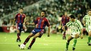 Luis Enrique and FC Barcelona faced Betis at the Santiago Bernabéu in Madrid in 1997. / FCB ARCHIVE