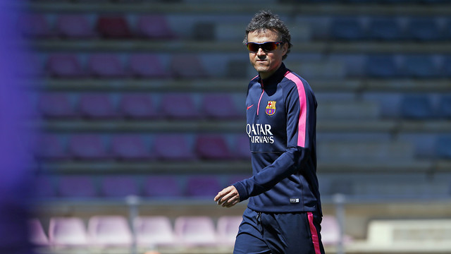 Luis Enrique spoke the media on Friday ahead of the match against Deportivo. / MIGUEL RUIZ-FCB