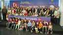 Los voluntarios del proyecto 'T'acompanyem' han recibido el homenaje del FC Barcelona / VÍCTOR SALGADO - FCB