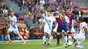 Messi's header gave Barça a 1–0 lead in minute five. / VÍCTOR SALGADO-FCB