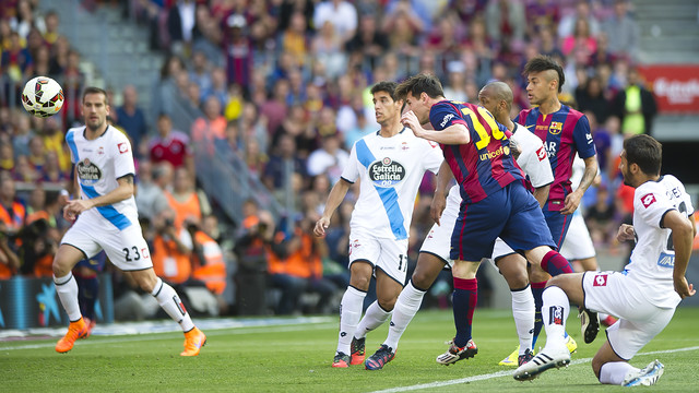 Messi's header gave Barça a 1–0 lead in minute five. / VÍCTOR SALGADO-FCB