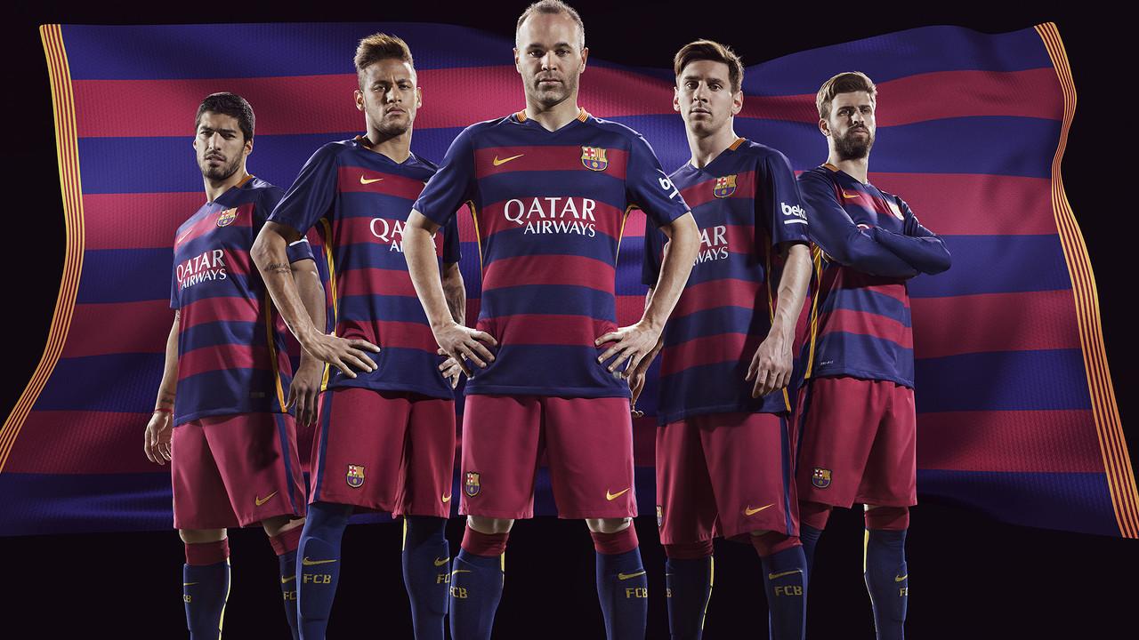 La primera equipació del FC Barcelona de la temporada 2015/16