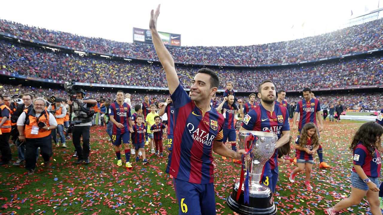 Xavi conquistou a sua oitava Liga / MIGUEL RUIZ - FCB