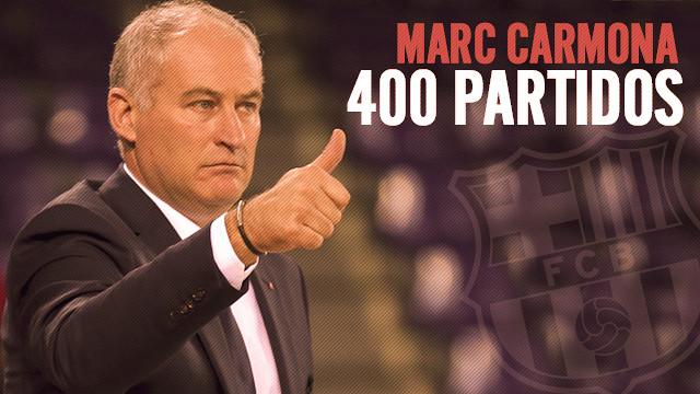 Marc Carmona ha dirigido 400 partits en el banquillo del Barça