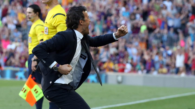 Luis Enrique laisse exploser sa joie