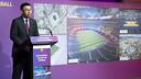 Josep Maria Bartomeu at the presentation of the first year of work on the Espai Barça / VÍCTOR SALGADO - FCB