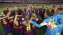 El grup celebra la Copa / MIGUEL RUIZ - FCB