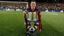 Xavi with the Spanish Cup / MIGUEL RUIZ - FCB
