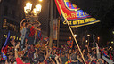 Fans celebrate cup victory at Canaletes