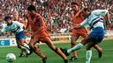 Koeman celebrating the goal against Sampdoria at Wembley 92 / FCB