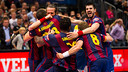 The blaugranes celebrate their ninth Champions League title / FCB ARCHIVE