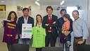 Presentation of the II Charity Tournament organized by the Federació de Penyes Barcelonistes de Barcelonès Est