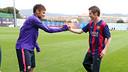Neymar and Farnworth meet up at the Ciutat Esportiva. MIGUEL RUIZ / FCB