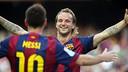 Rakitic et Messi font partie du onze idéal de la Liga/ MIGUEL RUIZ-FCB