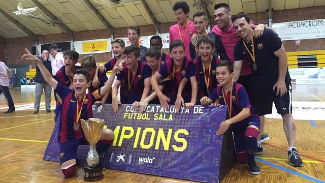 El equipo Alevín se proclamó Campeón de Cataluña