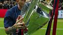 Leo Messi won his fourth UEFA Champions League trophy on 6 June 2015. / MIGUEL RUIZ-FCB