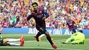Suárez scores against València. / MIGUEL RUIZ - FCB