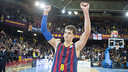 Hezonja after the game against Madrid at the Palau. / FCB Archive