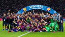 FC Barcelona completed the Treble on 6 June 2015 in Berlin, Germany. / FCB ARCHIVE