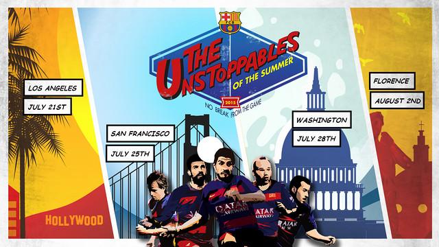 'The Unstoppables' la campagne du Barça pour la tournée / FCB