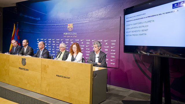 The Electoral Board announce the candidates for the FC Barcelona presidential elections/ VÍCTOR SALGADO - FCB