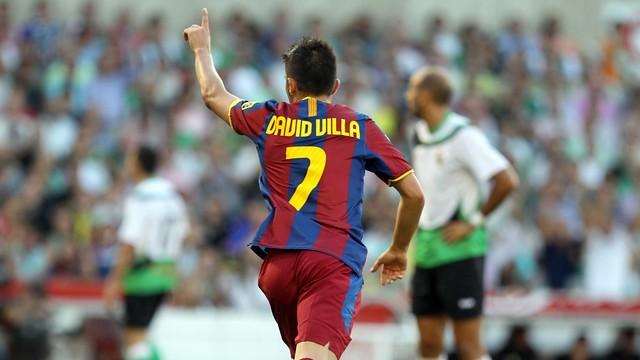David Villa avait marqué face à Santander / MIGUEL RUIZ-FCB