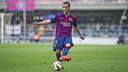 Grimaldo, durante un partido del Barça B / ARCHIVO FCB