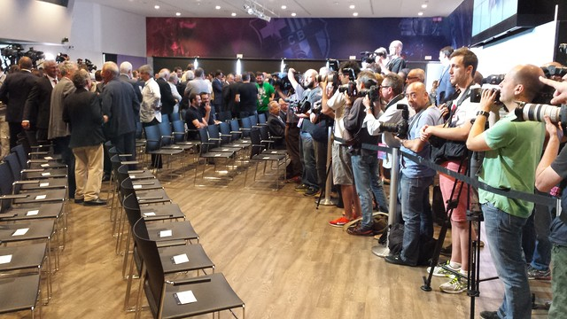 The Barça presidential elections have generated media interest from all over the world / FCB Archive