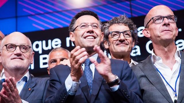 Josep Maria Bartomeu celebrating victory / JOANA BURGUÉS-FCB