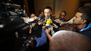 Josep Maria Bartomeu addresses the media in San Francisco / MIGUEL RUIZ-FCB