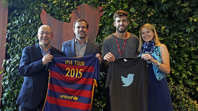 The FC Barcelona and Twitter representatives in San Francisco / MIGUEL RUIZ - FCB