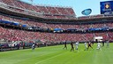 Levi's stadium was all decked out for FC Barcelona's friendly with Manchester United on Saturday. / FCB