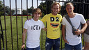 Rakitic, Ter Stegen and Halilovic pose in front of the White House. / MIGUEL RUIZ-FCB