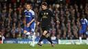 Messi, en una acció en un partit a Stamford Bridge / MIGUEL RUIZ - FCB