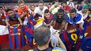 Iniesta, en un entrenamiento en Washington / MIGUEL RUIZ-FCB
