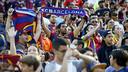 La afición se ha mostrado muy entregada con los jugadores del Barça / MIGUEL RUIZ - FCB