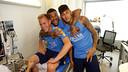 Ter Stegen, Alves and Neymar Jr, at the Ciutat Esportiva / MIGUEL RUIZ-FCB