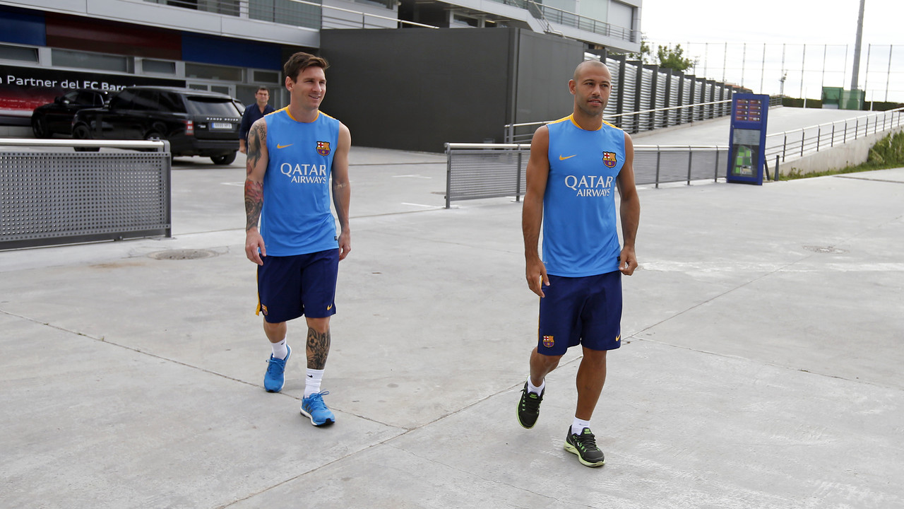 Messi and Mascherano have come back to work earlier than expected / MIGUEL RUIZ-FCB