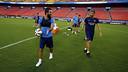 Arda Turan and Luis Enrique in training / MIGUEL RUIZ-FCB