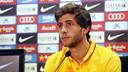 Sergi Roberto speaking to the press on Saturday morning / MIGUEL RUIZ-FCB