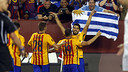 Suárez celebrating his goal in Washington / MIGUEL RUIZ-FCB