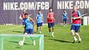 Training at the Ciutat Esportiva on Sunday morning / VÍCTOR SALGADO - FCB