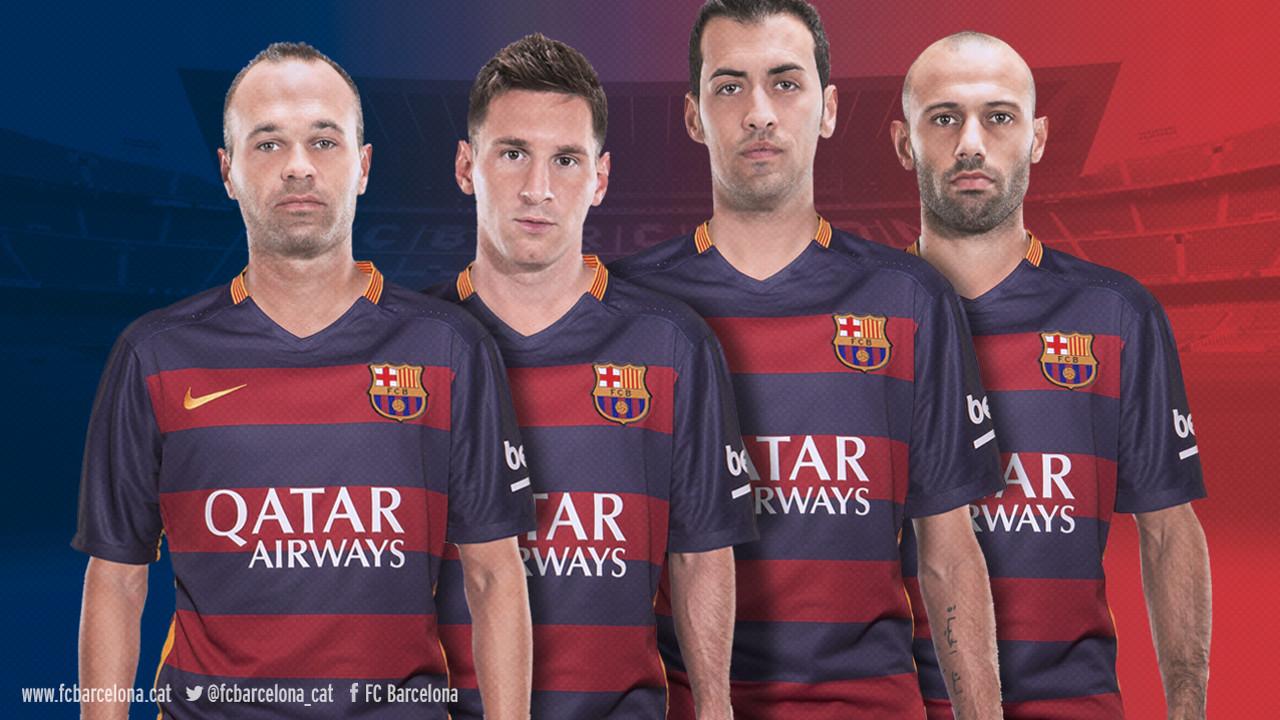 Iniesta, Messi, Sergio i Mascherano / FCB