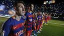 Leo Messi, durant la presentació de l'equip / MIGUEL RUIZ-FCB