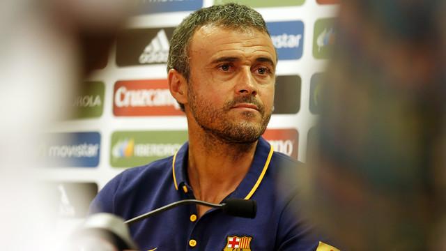 Luis Enrique at the press conference / MIGUEL RUIZ - FCB