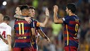 Messi, Neymar and Suarez celebrate / MIGUEL RUIZ-FCB