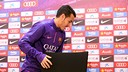 Pedro in a previous press conference / MIGUEL RUIZ - FCB