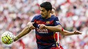 Luis Suárez scored FC Barcelona's first goal in the 2015/16 La Liga on Sunday. / MIGUEL RUIZ-FCB